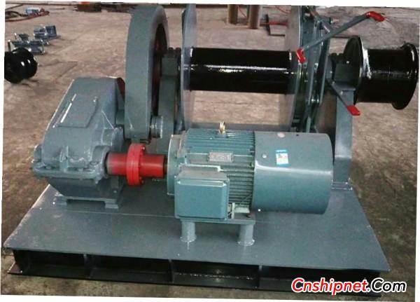 Jiangsu Jiesheng successfully delivered marine electric winch