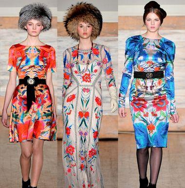时装周趋势:2012秋冬流行图案之花朵迷情(图3)