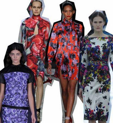 时装周趋势:2012秋冬流行图案之花朵迷情(图1)