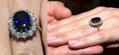 Prince Sapphire's sapphire and diamond ring for his fiancee