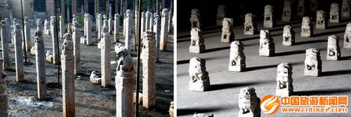 Collection of various stone lions, pony horses and other stones