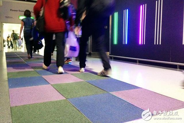 Smart floor can monitor people's walking frequency and convert it into electricity