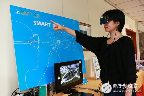 Transparent head-mounted i-Air Touch (iAT) smart glasses