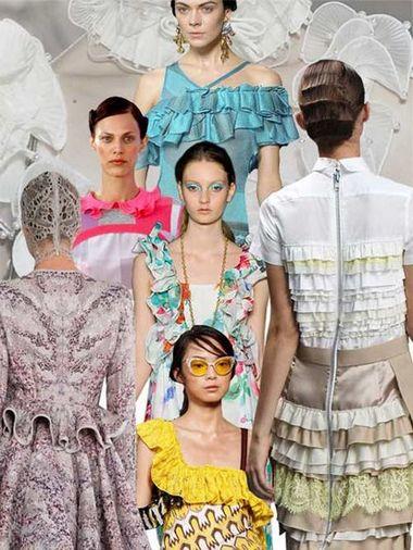 今夏女装流行设计 无处不在的荷叶边(图1)