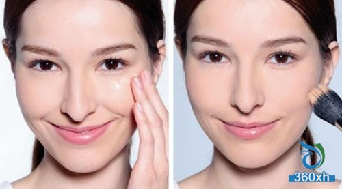 How to do uneven skin tone, shiny nude makeup to help you