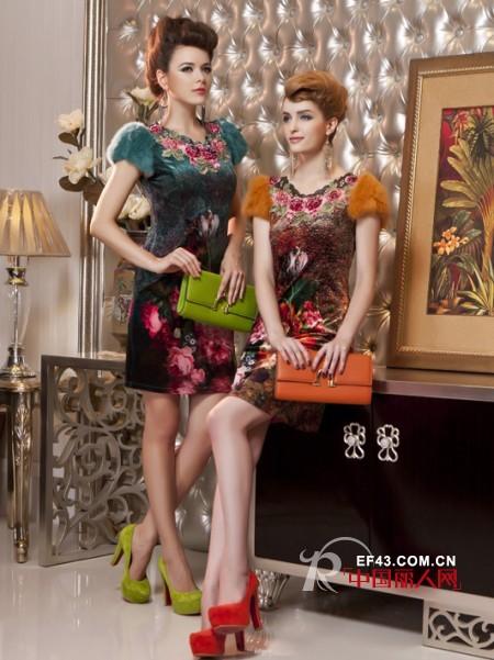 时尚绣花炫彩服装  追求女性美与优雅结合