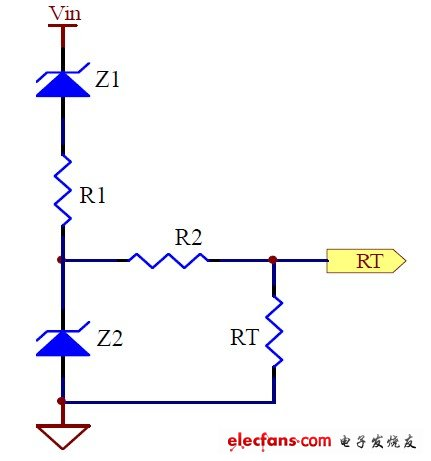 Figure 1: Frequency-reduction operating circuit at high input voltage