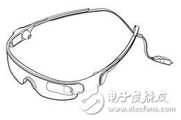 Graphical illustration of Samsung glasses-type computing device