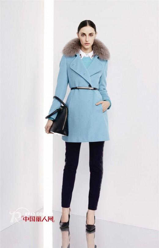 薄荷蓝大廓型大衣  矮个妹子能穿吗