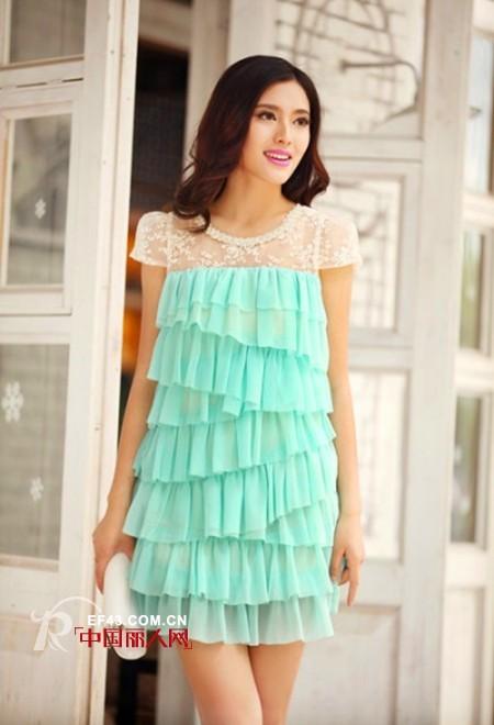 夏季糖果色连衣裙  枚红色水蓝色穿出文艺范儿