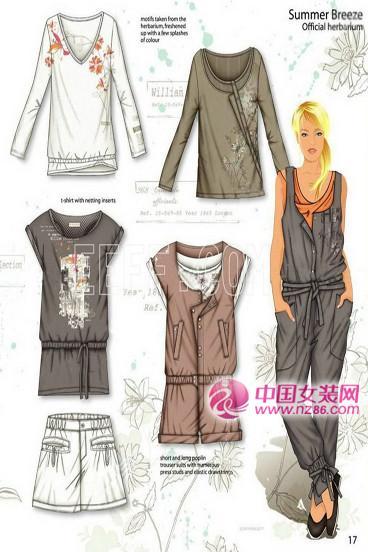2012春夏女装设计手稿,女装色彩面料设计款式图(图4)