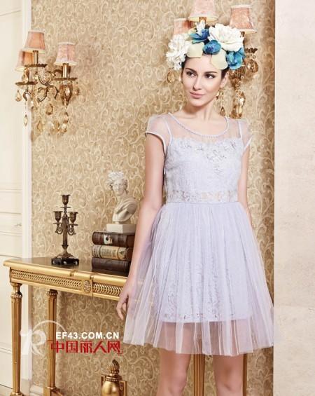 适合成熟女性的连衣裙 木帛纱质连衣裙