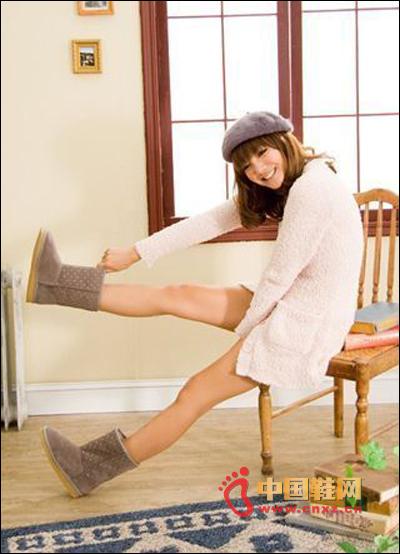 Gray Plaid Snow Boots
