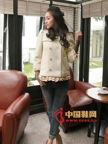 Pure white woolen coat