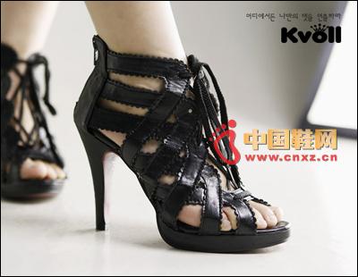 Black Roman shoes