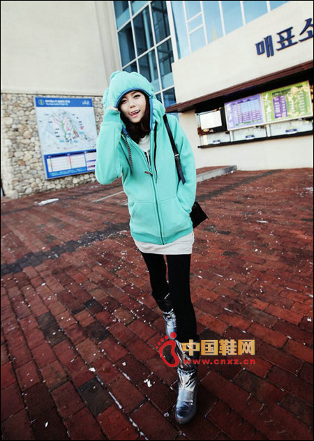 Glossy casual snow boots