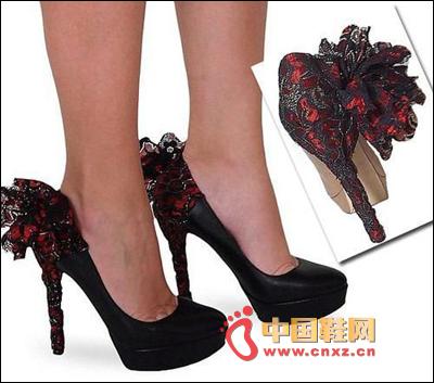 Side of flower styling high heels