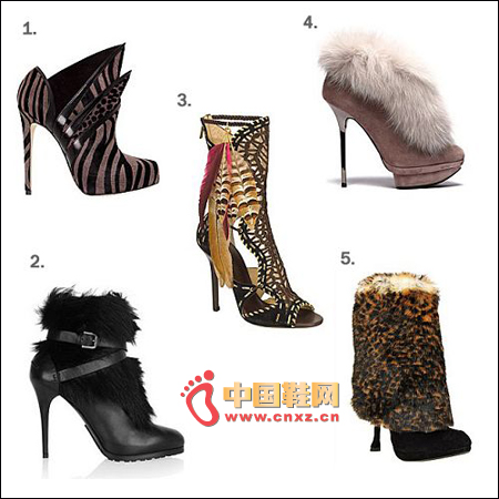 Animal fur boots