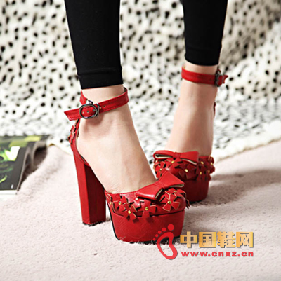 Red square heel