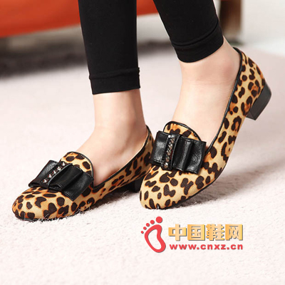 Leopard flat shoes