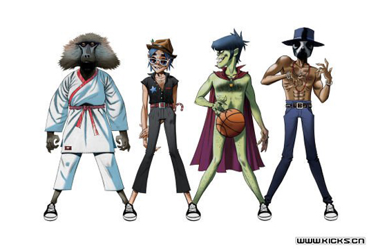 CONVERSE Releases 2012 New Gorillaz Joint Cooperative Model Series (2)