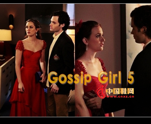 Reem Acra Resort 2012 series red dress appeared in the drama, very amazing