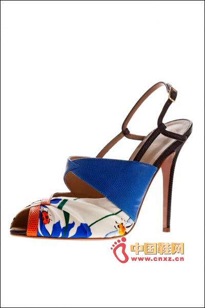 Printed high-heeled sandals