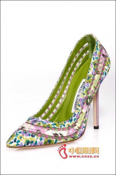 Printed pointed shoes