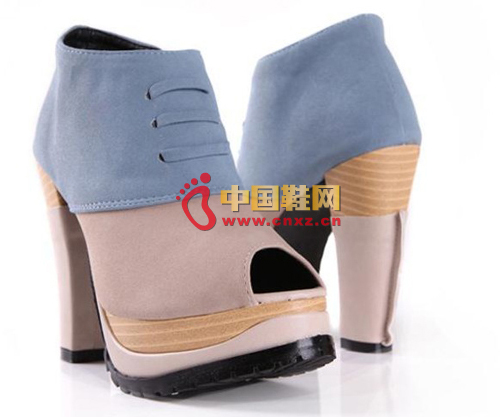 Spring new color matching fish mouth shoes