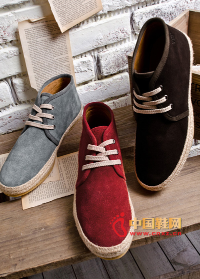 Fashion men's fashion linen edge suede high help casual shoes, shoes necessary models, with a variety of pants are very good