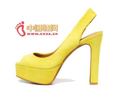 Zara thick-bottom fish head high heels
