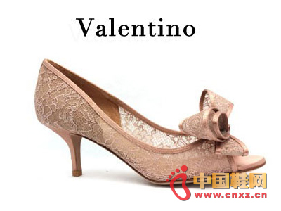 Valention bow lace low heel shoes