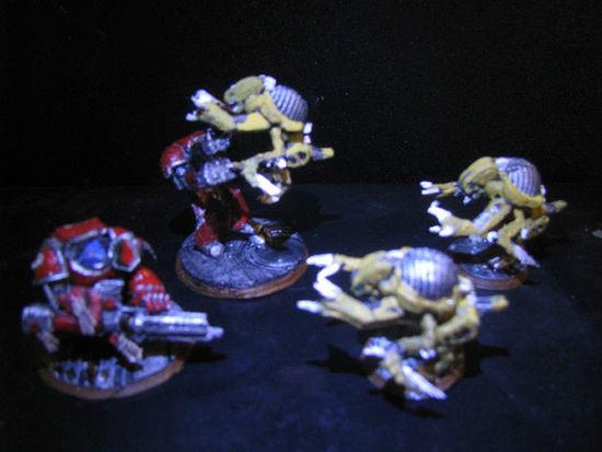 Otaku looks over 3D printed Wargaming game model