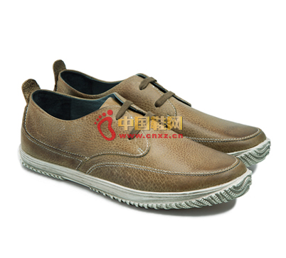 Textured textured leather casual shoes