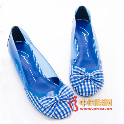 Mysterious marine blue fashion shoes, so that every woman can not resist the temptation. Plaid Butterfly Ornaments
