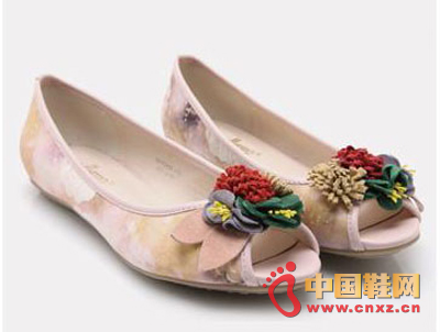 Lovely colorful flowers with sexy fish mouth, lightweight low heel design