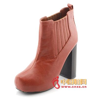 Classic shoe-type design, wide elastic high-heeled Martin boots, with tight trousers to show a different range of children.