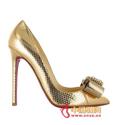 Christian Louboutin Golden Luxury High Heels