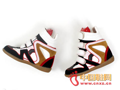 Casual high-top sports shoes, red and black classic color, very simple. Unique shoe body design
