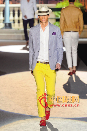 DSquared2 fluorescent-colored narrow-leg pants should be the essential basics for every tideman's wardrobe this year.