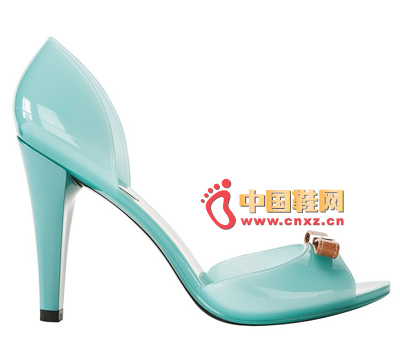 Furla blue jelly fish mouth high heels