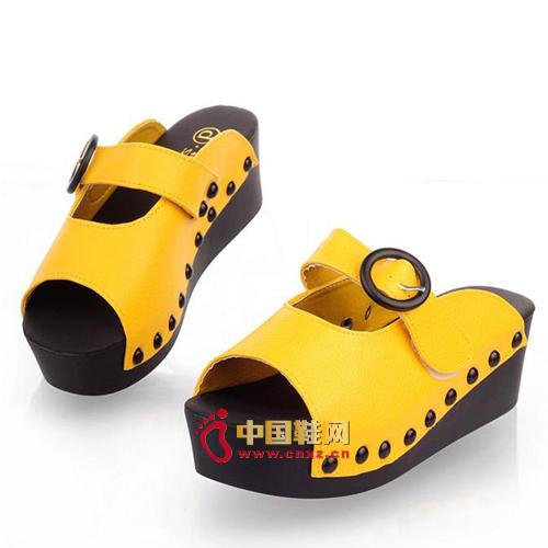 Simple fashion belt buckle sandals