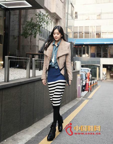 Fashion striped skirt
