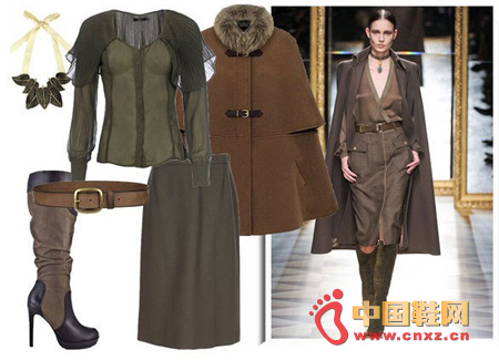 LOOK 3: Meeting with powerful coats and high-heeled boots