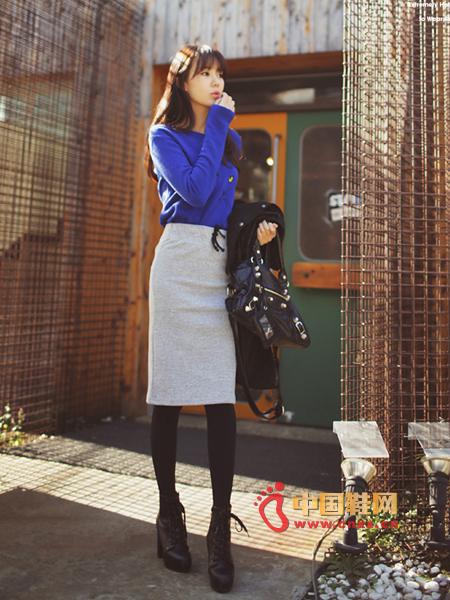 Easy to wear skirt, elastic waist drawstring processing