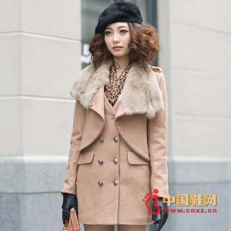 Must-have wool coat for autumn and winter, elegant elegant style extravagance