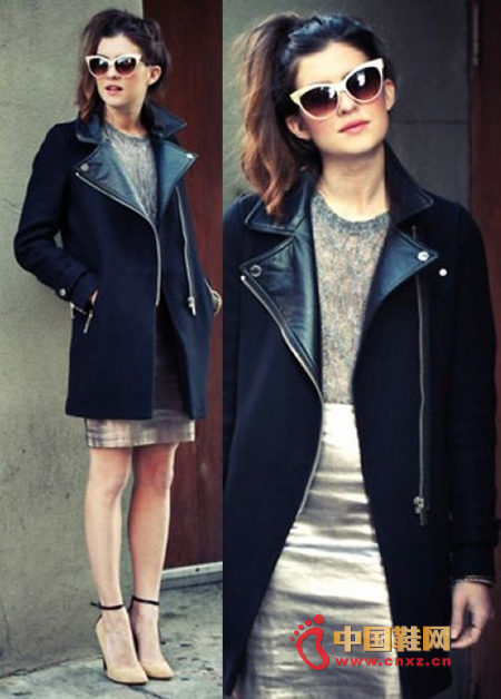 Leather jackets are not necessarily boys' favorite, girls can choose leather jackets as winter coats