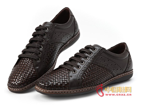Dragon faction high-end leather hand-woven popular men's shoes