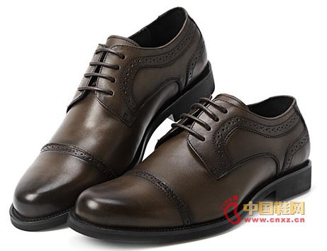 Dragon sent upscale British carved men's business casual shoes