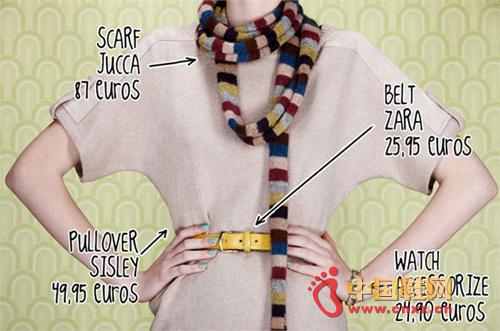 Slim scarf useful shape